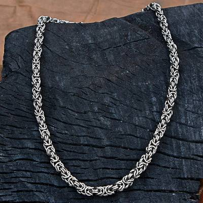 Stainless steel chain necklace, Steel Rings