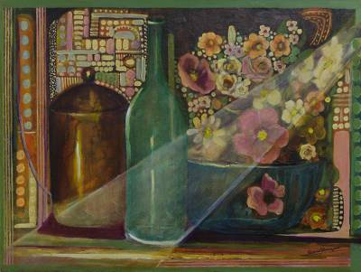 'Transparency' (2015) - Original Signed Brazilian Still Life Painting
