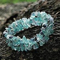 Featured review for Fluorite beaded bracelets, Icy Cave (set of 3)