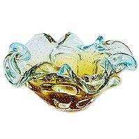 Art glass centerpiece,