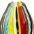 Handblown art glass vase, 'Carnival Color Fantasy' - Collectible Handblown Murano Inspired Art Vase (image 2e) thumbail