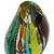 Handblown art glass vase, 'Carnival Color Fantasy' - Collectible Handblown Murano Inspired Art Vase (image 2f) thumbail