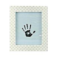 Ceramic photo frame, 'Ivory Mosaic' (8x10) - Ceramic Tile Photo Frame (8x10) from Brazil