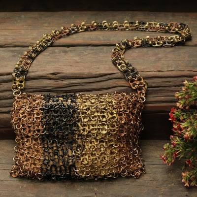 Soda pop-top sling, Shimmery Metal