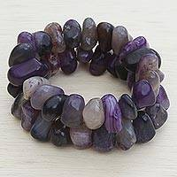 Agate beaded stretch bracelets,
