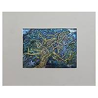 'The Magic Forest' (2012) - Original Expressionist Painting of a Tree from Brazil