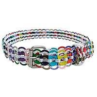 Soda pop-top belt, 'Heavenly Pastel' - Colorful Recycled Aluminum Soda Pop-Top Belt from Brazil