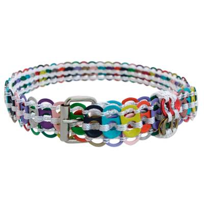 Colorful Recycled Aluminum Soda Pop-Top Belt from Brazil