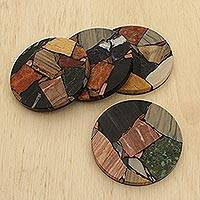 Gemstone coasters,