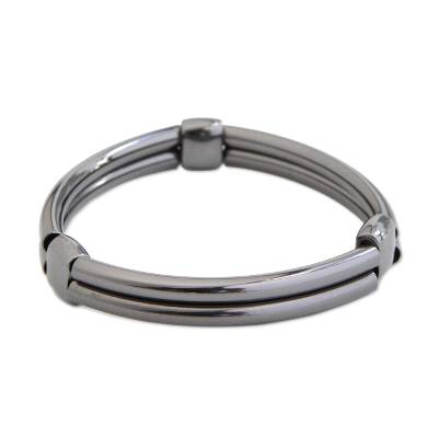 Stainless Steel Stretch Wristband Bracelet from Brazil