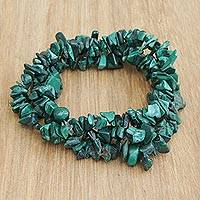 Featured review for Malachite beaded stretch bracelets, Green Trio (set of 3)