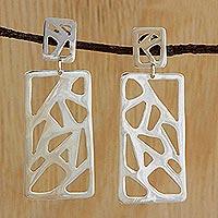 Silver dangle earrings,