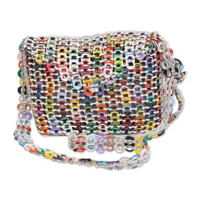 Recycled Multicolor Aluminum Soda Pop-Top Sling Bag