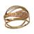 Tri-color gold cocktail ring, 'Diamond Waves' - Wavy Tricolor 10k Gold Cocktail Ring from Brazil (image 2a) thumbail