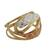 Tri-color gold cocktail ring, 'Diamond Waves' - Wavy Tricolor 10k Gold Cocktail Ring from Brazil (image 2c) thumbail
