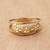 Gold band ring, 'Starry Glisten' - Star Motif 10k Gold Band Ring from Brazil thumbail