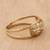 Gold band ring, 'Starry Glisten' - Star Motif 10k Gold Band Ring from Brazil (image 2b) thumbail