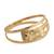 Gold band ring, 'Starry Glisten' - Star Motif 10k Gold Band Ring from Brazil (image 2c) thumbail