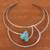 Howlite collar necklace, 'Queen's Sea' - Blue Howlite and Stainless Steel Collar Necklace thumbail