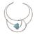 Howlite collar necklace, 'Queen's Sea' - Blue Howlite and Stainless Steel Collar Necklace (image 2a) thumbail