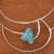 Howlite collar necklace, 'Queen's Sea' - Blue Howlite and Stainless Steel Collar Necklace (image 2c) thumbail