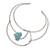 Howlite collar necklace, 'Queen's Sea' - Blue Howlite and Stainless Steel Collar Necklace (image 2d) thumbail
