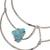 Howlite collar necklace, 'Queen's Sea' - Blue Howlite and Stainless Steel Collar Necklace (image 2e) thumbail