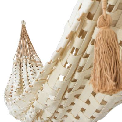 Handwoven Double Cotton Hammock from Brazil