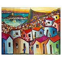 'City of Colors' - Expressionist Painting of Rio de Janeiro in Tropical Colors