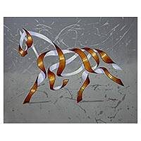 'Horse Gallop' - Original Surrealist Painting of a Horse from Brazil