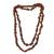 Garnet beaded necklace, 'Fiery Infatuation' - Long Garnet Beaded Necklace from Brazil (image 2f) thumbail