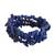 Lapis lazuli beaded stretch bracelets, 'Lapis Trio' (set of 3) - Three Lapis Lazuli Beaded Stretch Bracelets from Brazil (image 2a) thumbail