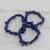 Lapis lazuli beaded stretch bracelets, 'Lapis Trio' (set of 3) - Three Lapis Lazuli Beaded Stretch Bracelets from Brazil (image 2c) thumbail