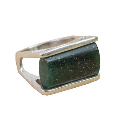 Green Quartz Cocktail Ring Crafted in Brazil