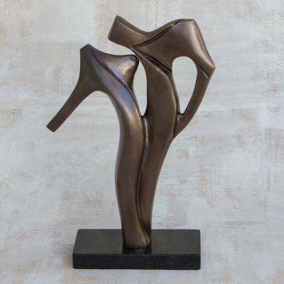 Bronze sculpture, 'The Kiss II' - Limited Edition Romantic Bronze Sculpture from Brazil