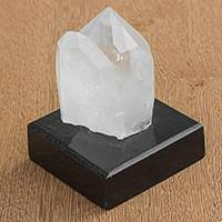 Quartz gemstone sculpture, 'Neutral Energy' - Clear Quartz Gemstone Sculpture from Brazil