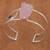 Rose quartz and amethyst cuff bracelet, 'Pink Mountains' - Rose Quartz and Amethyst Cuff Bracelet from Brazil thumbail