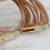 Leather cord bracelet, 'Feminine Cords' - Modern Leather Cord Bracelet in Beige from Brazil (image 2c) thumbail