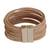 Leather cord bracelet, 'Feminine Cords' - Modern Leather Cord Bracelet in Beige from Brazil (image 2d) thumbail