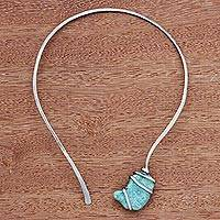 Amazonite collar necklace, 'Sky Magnitude' - Amazonite Collar Pendant Necklace from Brazil