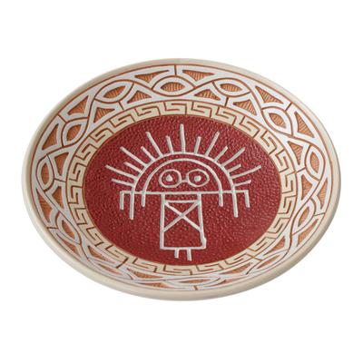 Ceramic Decorative Plate Crafted in Brazil