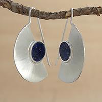 Lapis lazuli drop earrings,