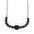 Black rhodium plated agate pendant necklace, 'Gala Elegance' - Black Rhodium Plated Agate Pendant Necklace from Brazil (image 2a) thumbail