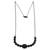 Black rhodium plated agate pendant necklace, 'Gala Elegance' - Black Rhodium Plated Agate Pendant Necklace from Brazil (image 2c) thumbail