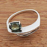 Peridot single-stone ring, 'Green Brilliance' - Natural Peridot Single-Stone Ring from Brazil
