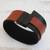 Faux leather wristband bracelet, 'Black and Brown Tango' - Black and Brown Faux Leather Wristband Bracelet from Brazil thumbail