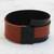 Faux leather wristband bracelet, 'Black and Brown Tango' - Black and Brown Faux Leather Wristband Bracelet from Brazil (image 2b) thumbail