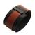 Faux leather wristband bracelet, 'Black and Brown Tango' - Black and Brown Faux Leather Wristband Bracelet from Brazil (image 2c) thumbail