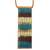 Glass and leather pendant necklace, 'Horizon Threads' - Striped Glass and Leather Pendant Necklace from Brazil (image 2a) thumbail
