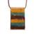 Glass and leather pendant necklace, 'Earth Waters' - Layered Glass and Leather Pendant Necklace from Brazil (image 2a) thumbail